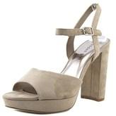 Madden-Girl Shaare Open Toe Canvas Platform Heel.