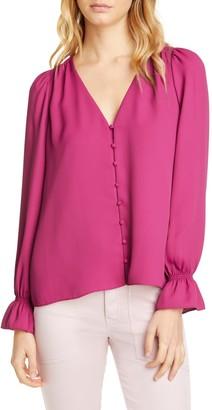 Joie Bolona Long Sleeve Silk Blouse