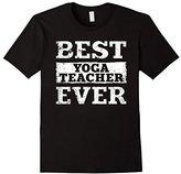 Men's Best Yoga Teacher Ever Shirt: Funny Job Gift T-Shirt Large