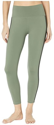 adidas Believe This Stripe 7/8 Tights (Legacy Green/Black) Women's Casual Pants