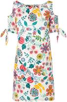 Talbot Runhof floral cold shoulder dress