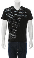 Versace V-Neck Graphic Print T-Shirt w/ Tags