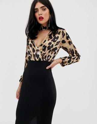 AX Paris 2 in 1 leopard print dress
