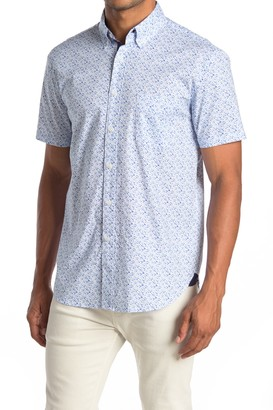 Construct Floral Print Short Sleeve Slim Fit Shirt