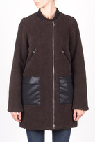 Members Only Faux Sherpa Boxy Coat