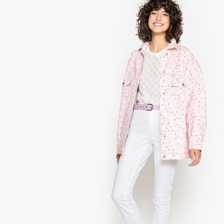 La Redoute Collections Printed Denim Long Oversized Jacket