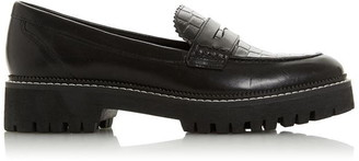 Dune London Gecho Burgundy Leather Loafers