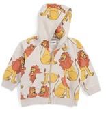 Mini Rodini Infant Boy's Lion Zip Hoodie