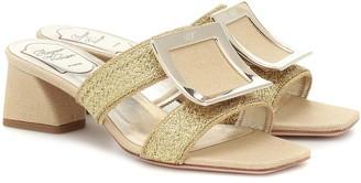 Roger Vivier Bikiviv' raffia sandals