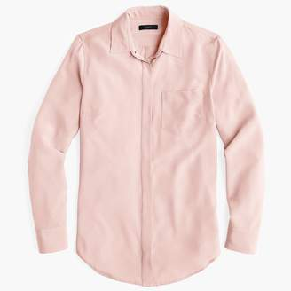 J.Crew Tall silk button-up shirt
