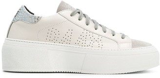 P448 Perforated Lace Up Sneakers