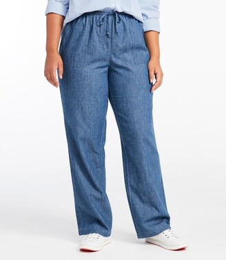 L.L. Bean Women's Original Sunwashed Pants, Denim