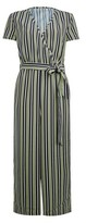 Dorothy Perkins Womens Only Sage Short Sleeve Striped Jumpsuit