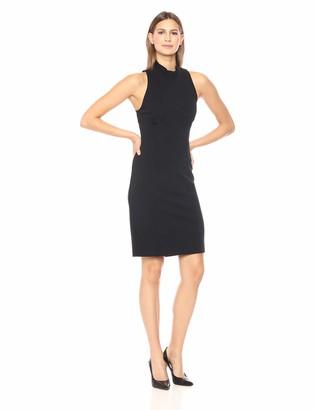 Lark & Ro Women's Sleeveless Halter Neck Long Sheath Dress