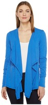 Mod-o-doc Slub Jersey Draped Front Cardigan Women's Sweater