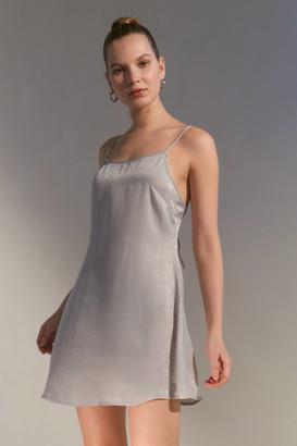 Urban Renewal Vintage Remnants Tie-Back Satin Mini Slip Dress