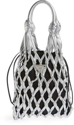 Prada Rete Top Handle Calfskin Bag