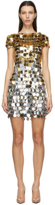 Paco Rabanne Silver and Gold Disc Dress