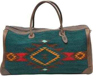 Mz Fair Trade MZ Fair Trade Wild West Leather and Wool Duffel Bag