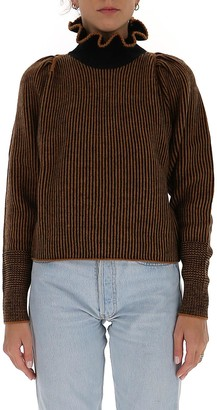 See by Chloe Ruffled Turtleneck Knit Pullover