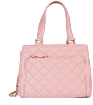 Saks Fifth Avenue Made In Italy Quilted Leather Satchel