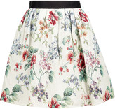 Raoul Metallic cotton-blend jacquard mini skirt