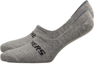 Skechers Two Pack Basic Footie Socks Light Grey Melange