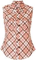 Miu Miu checked sleeveless shirt