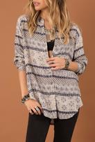 Others Follow Indigo Print Blouse