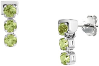 Tsai X Tsai San Shi Peridot Stud Earrings, Sterling Silver