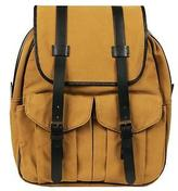 Wilsons Leather Mens Canvas Backpack W/ Leather Accents Khaki