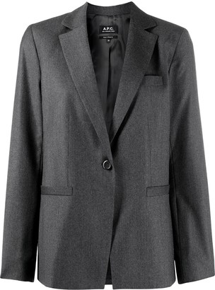 A.P.C. Long-Sleeved Front Button Jacket