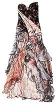 Carlos Miele Strapless Silk Evening Dress