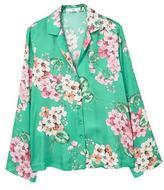 MANGO Floral flowy shirt