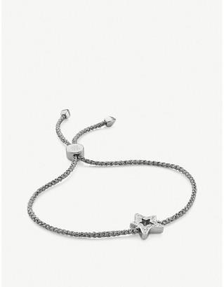 Monica Vinader Star 18ct sterling silver and diamond friendship bracelet