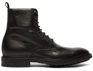 Paul Smith Jarman Lace Up Leather Boots - Mens - Black
