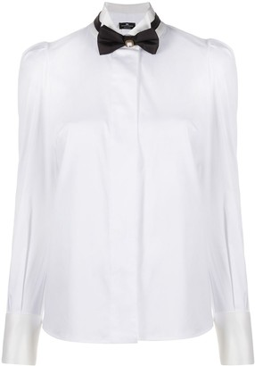 Elisabetta Franchi Bow Tie Long-Sleeved Shirt