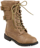 Journee Collection Women's Cedes Combat Boot -Brown