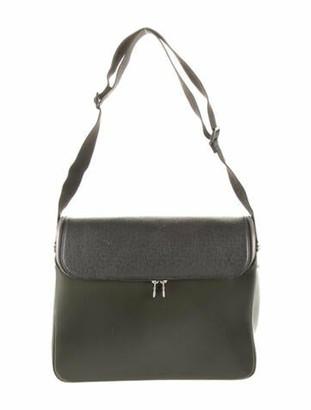 Louis Vuitton Taiga Taimyr Messenger Bag green