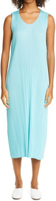 Pleats Please Issey Miyake Sleeveless Midi Dress