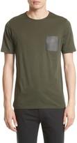The Kooples Men's Leather Pocket T-Shirt