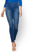 New York & Co. Soho Jeans - High-Waist Pull-On Legging - Laguna Blue Wash
