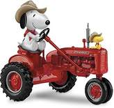 Hamilton Peanuts Snoopy and Woodstock on a Farmall Tractor Figurine Collection by The Collection