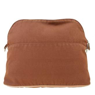 Hermes Bolide Brown Cotton Travel bags
