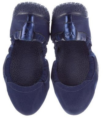 Y-3 Woven Round-Toe Flats