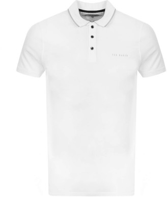 Ted Baker Bloko Polo T Shirt White