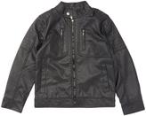 Urban Republic Black Faux Leather Jacket - Boys