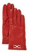 Salvatore Ferragamo Cashmere-Lined Leather Gloves
