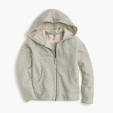 J.Crew Girls' wafer terry zip hoodie