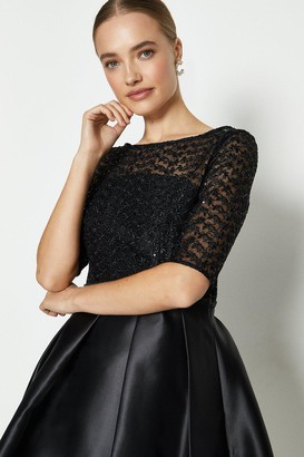 Coast Lace Bodice Full Skirt Dress